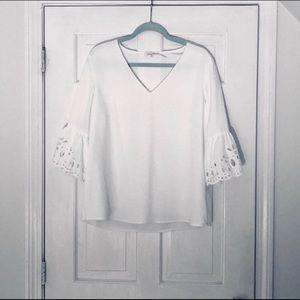 Calvin Klein White Bell Sleeves Blouse